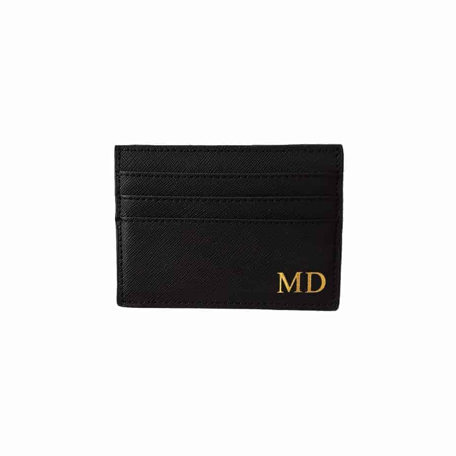 Saffiano Leather Cardholder PERSONALISED MONOGRAM Lanyard Badge Leather ID
